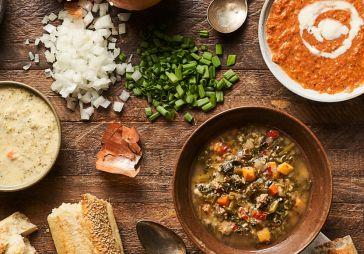 Dew Drop Cabbage, White Bean & Potato Soup
