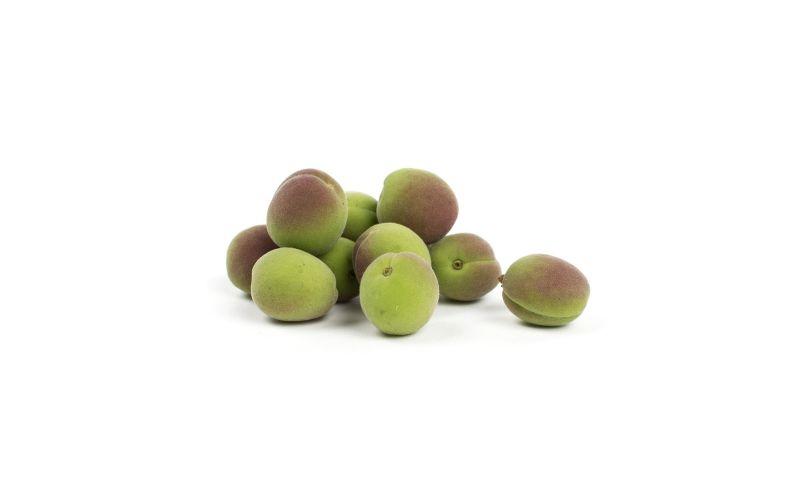 Unripe Green Apricots