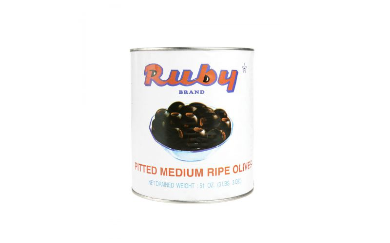 Black Pitted Olives Tin