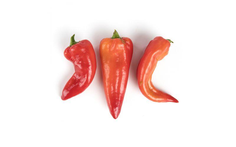 Organic Red Corno Di Toro Peppers