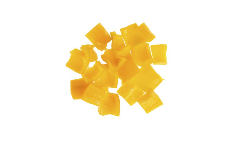"""1"""" Cubed Yellow Peppers"""