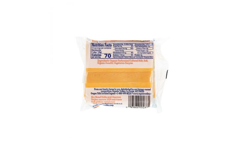 Organic Sliced Colby Style American Cheese