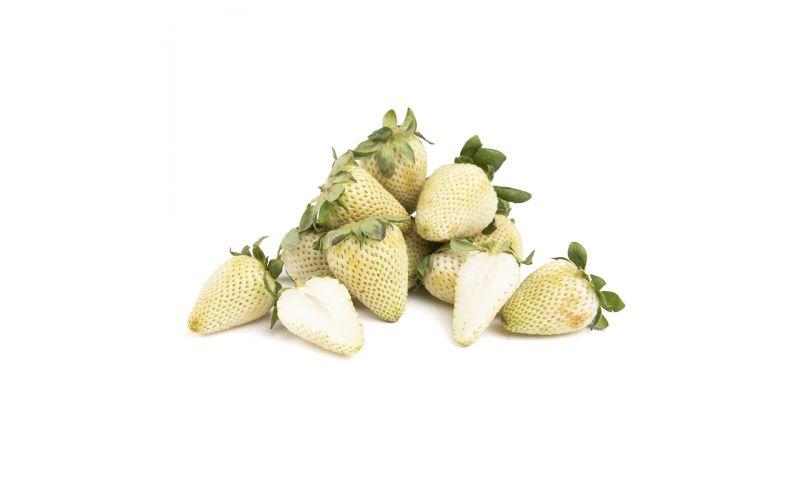 Green Unripe Strawberries