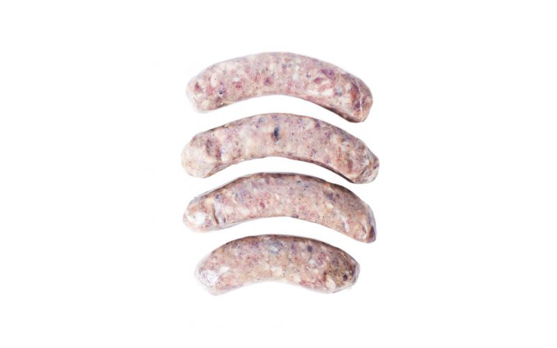 Wild Boar Sausages with Apples