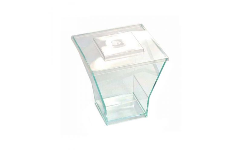 Precism Square Crystal Clear Lid With Décor