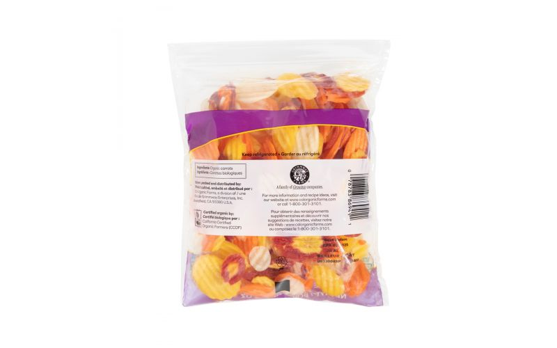 Organic Rainbow Carrot Chips