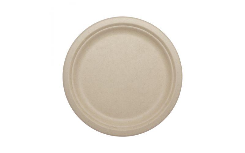 "9"" Compostable Fiber Plates"