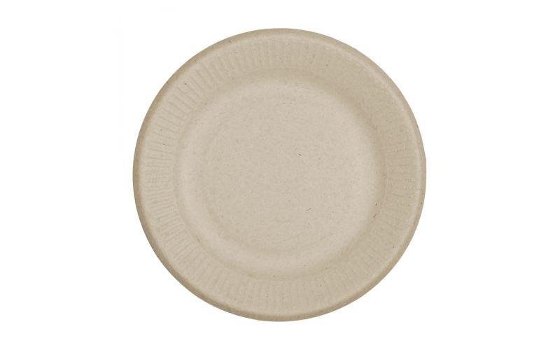 "6"" Compostable Fiber Plates"