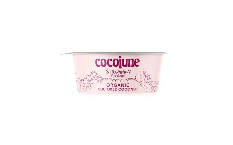 Organic Vegan Strawberry Rhubarb Coconut Yogurt