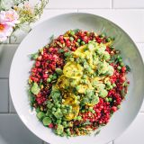 Mothers Day Magenta Spring Vegetable Couscous