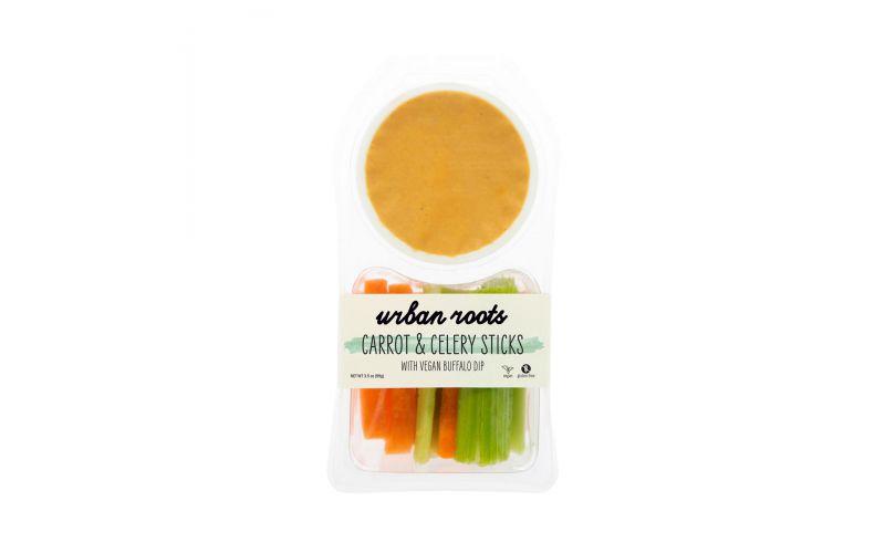 Carrot and Celery Sticks with Vegan Buffalo Dip