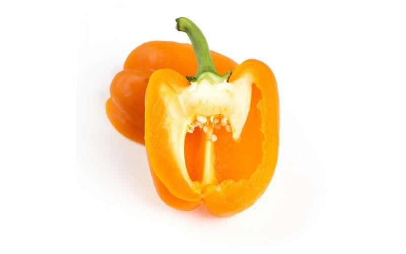 Greenhouse Orange Peppers